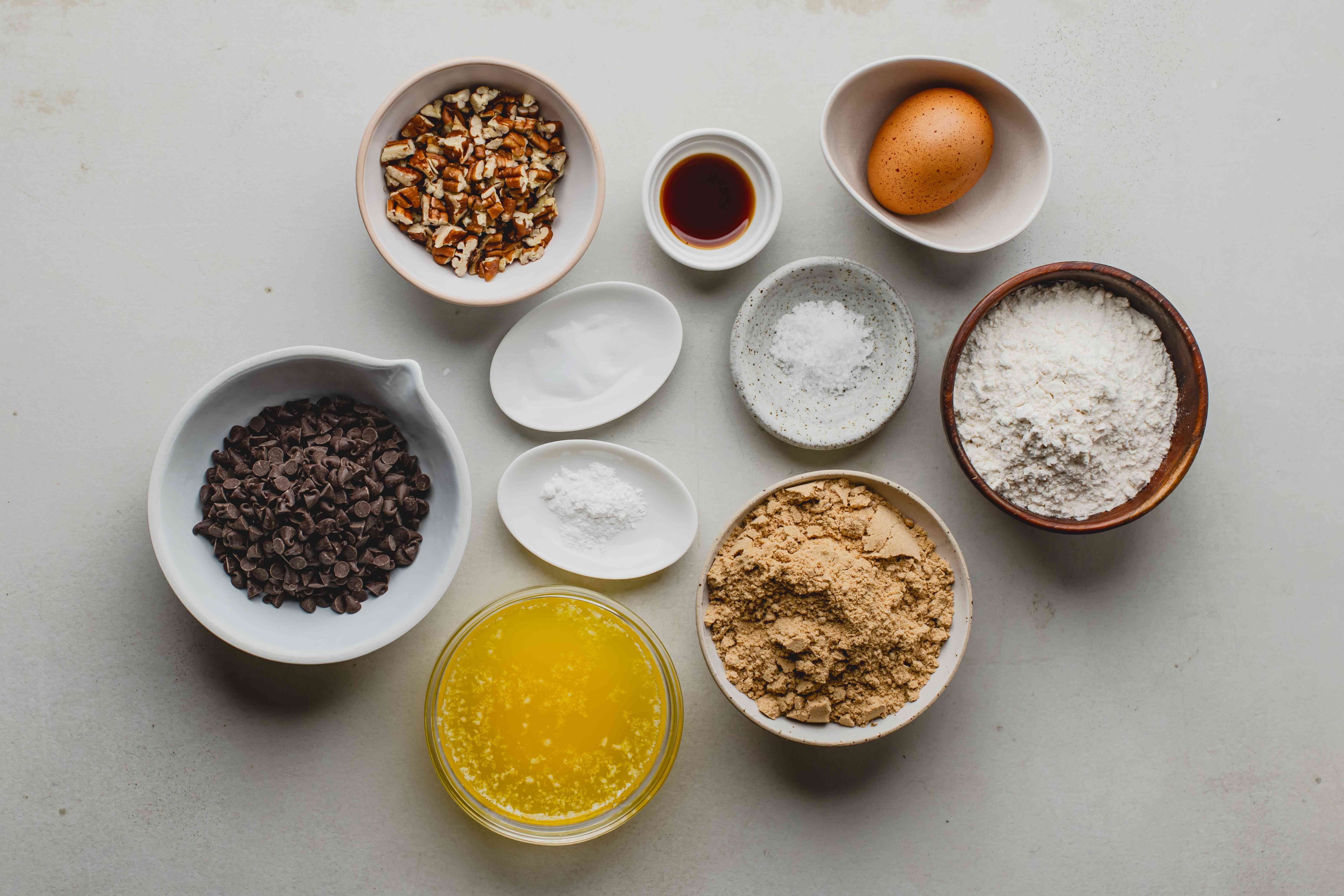Ingredients for blondie topping