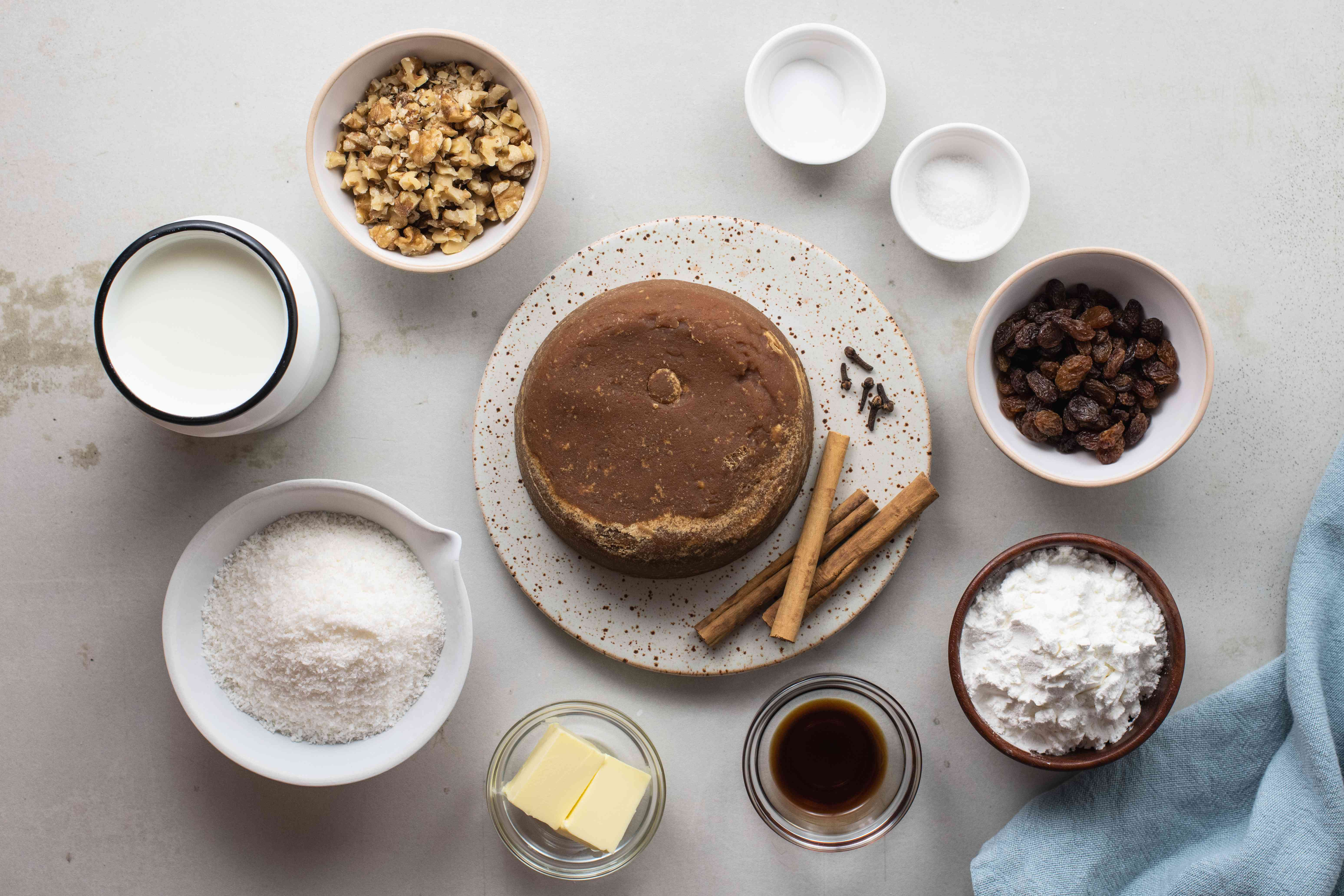 Ingredients for Natilla Colombian Christmas custard