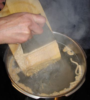 Making Spaetzle the Old-Fashioned Way