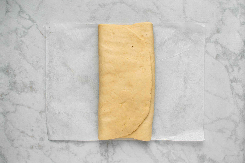 dough folded into thirds