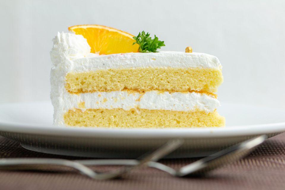 Pastel cremoso de mandarina y naranja
