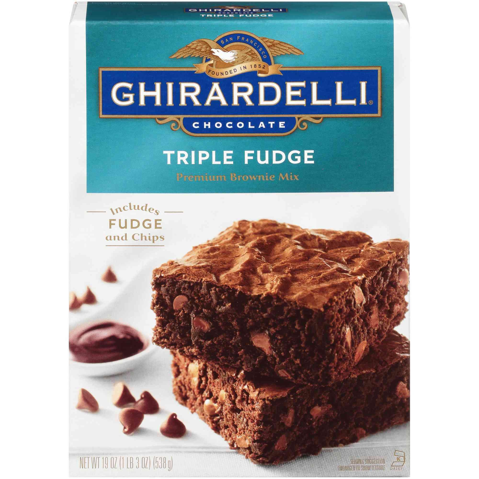 Ghirardelli Chocolate Triple Fudge Premium Brownie Mix