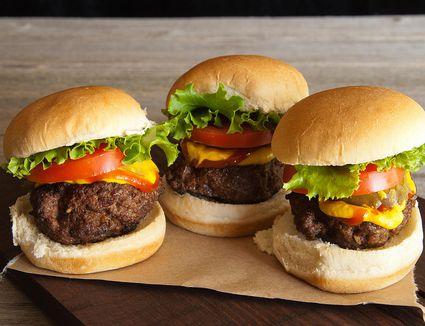 All-American sliders (mini burgers)