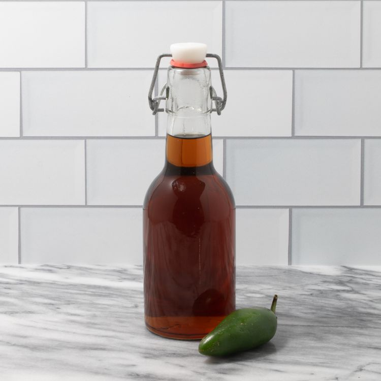 Homemade Spicy Jalapeño Simple Syrup for Cocktails Tester Image