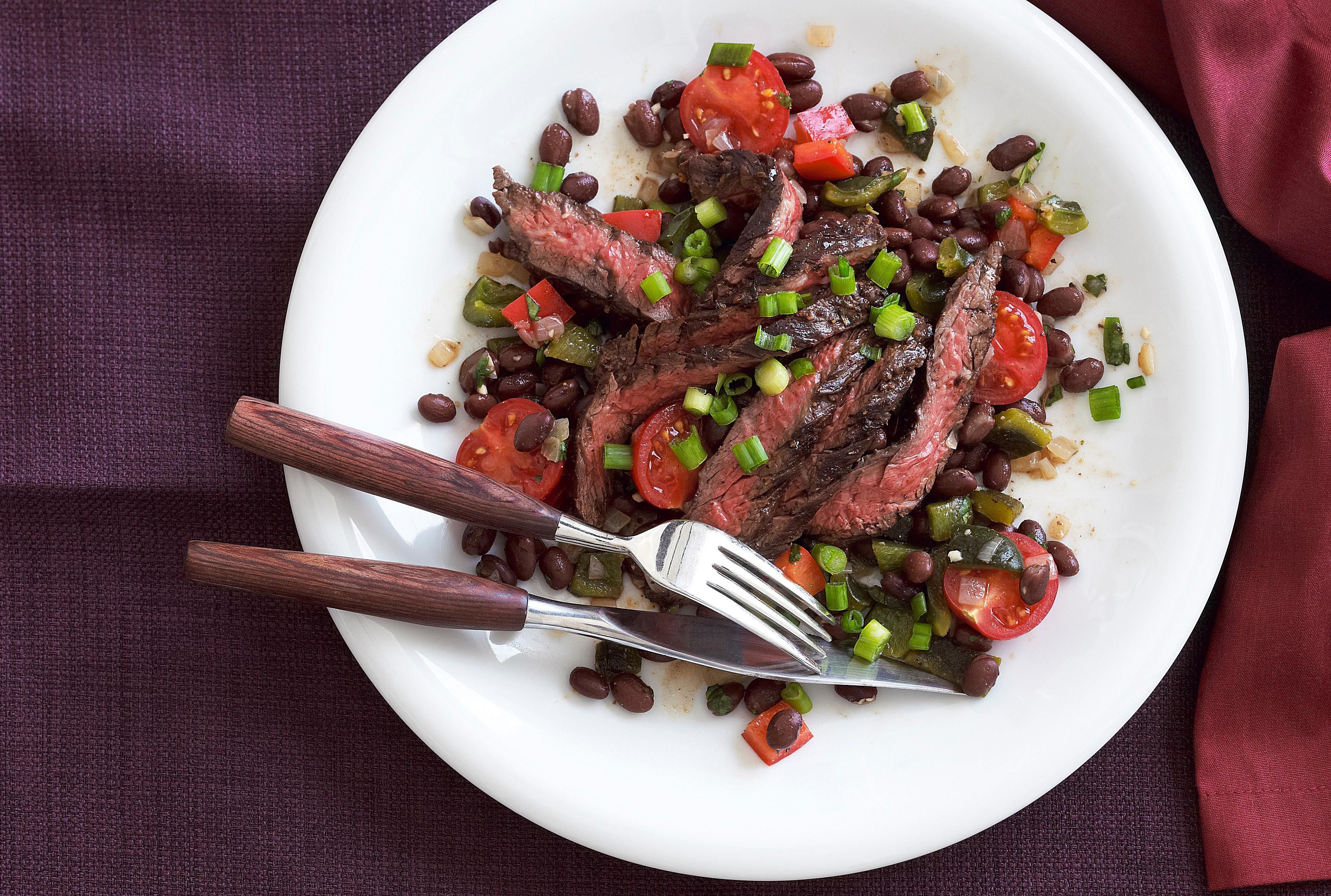 Southwest Steak and Beans