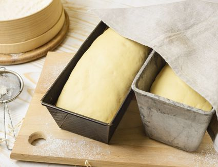 Put dough in loaf pans