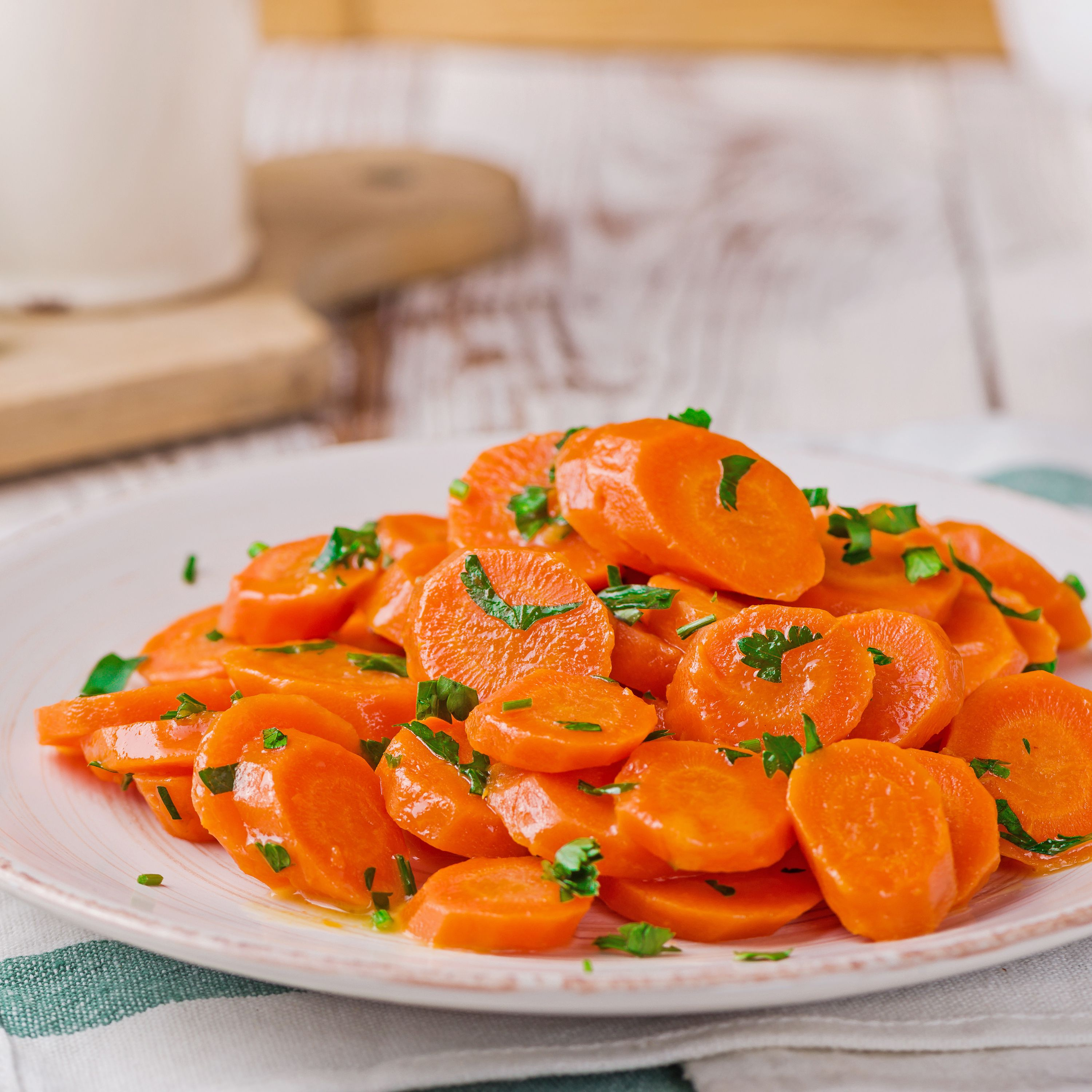 Simple Steamed Carrots With Butter Recipe