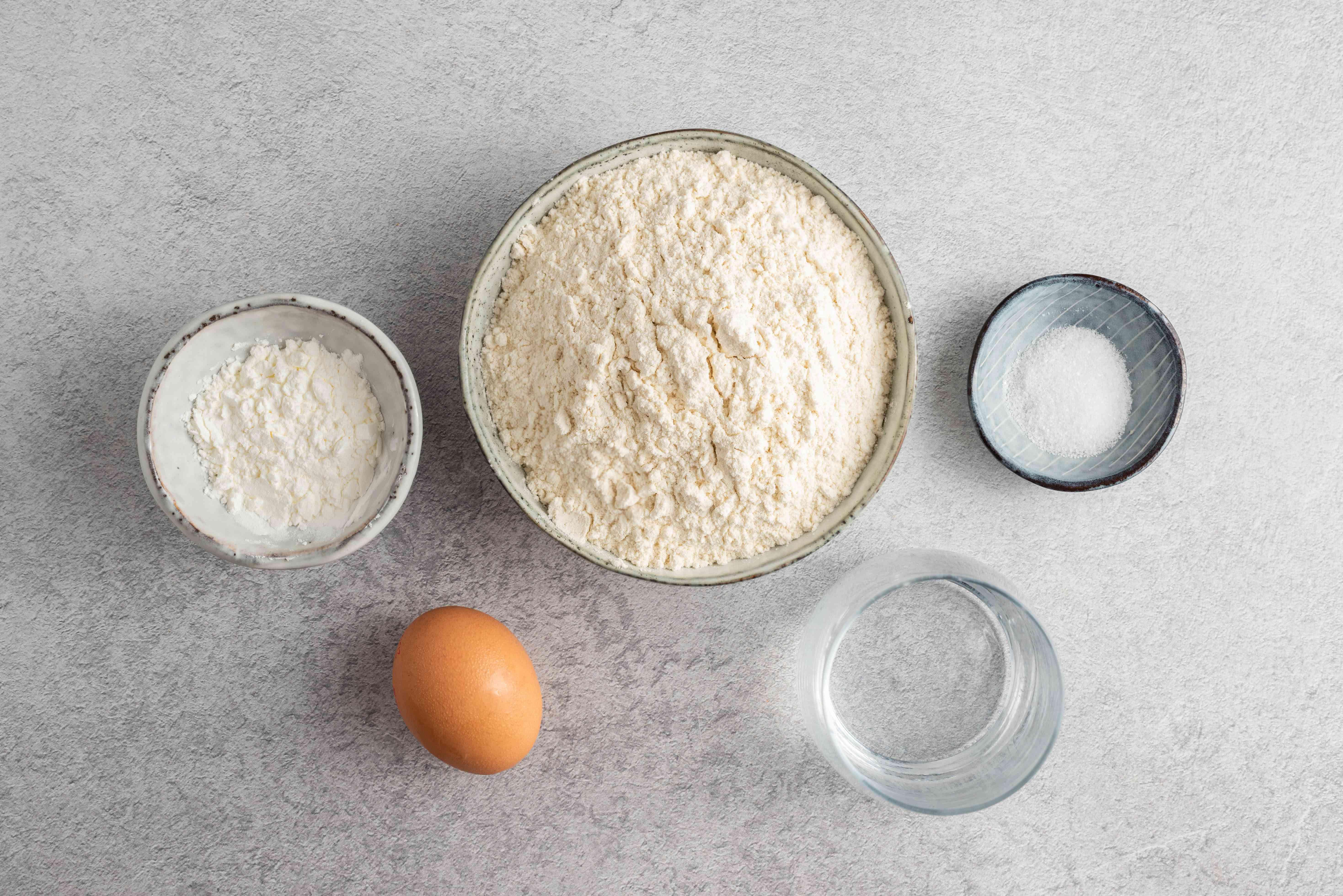 Uncooked eggroll ingredients