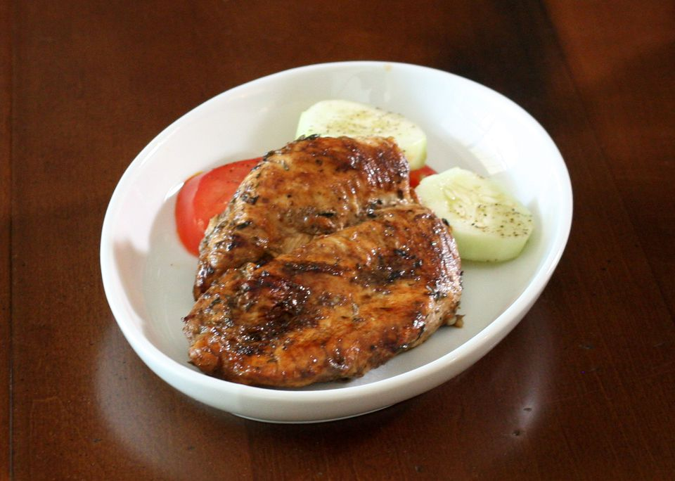 Balsamic marinated chicken breasts