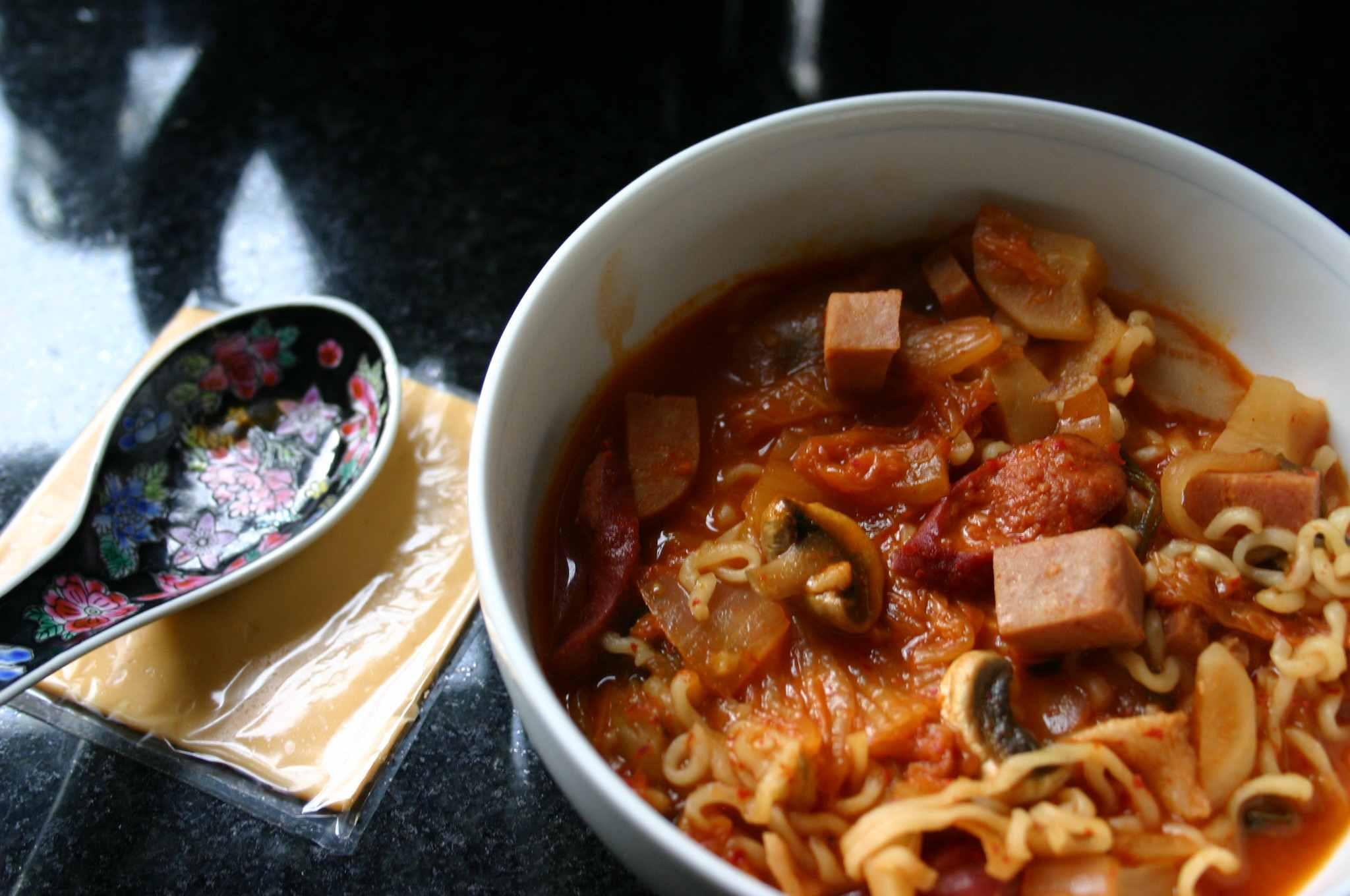 Korean Army Base Stew (Budae Chigae)