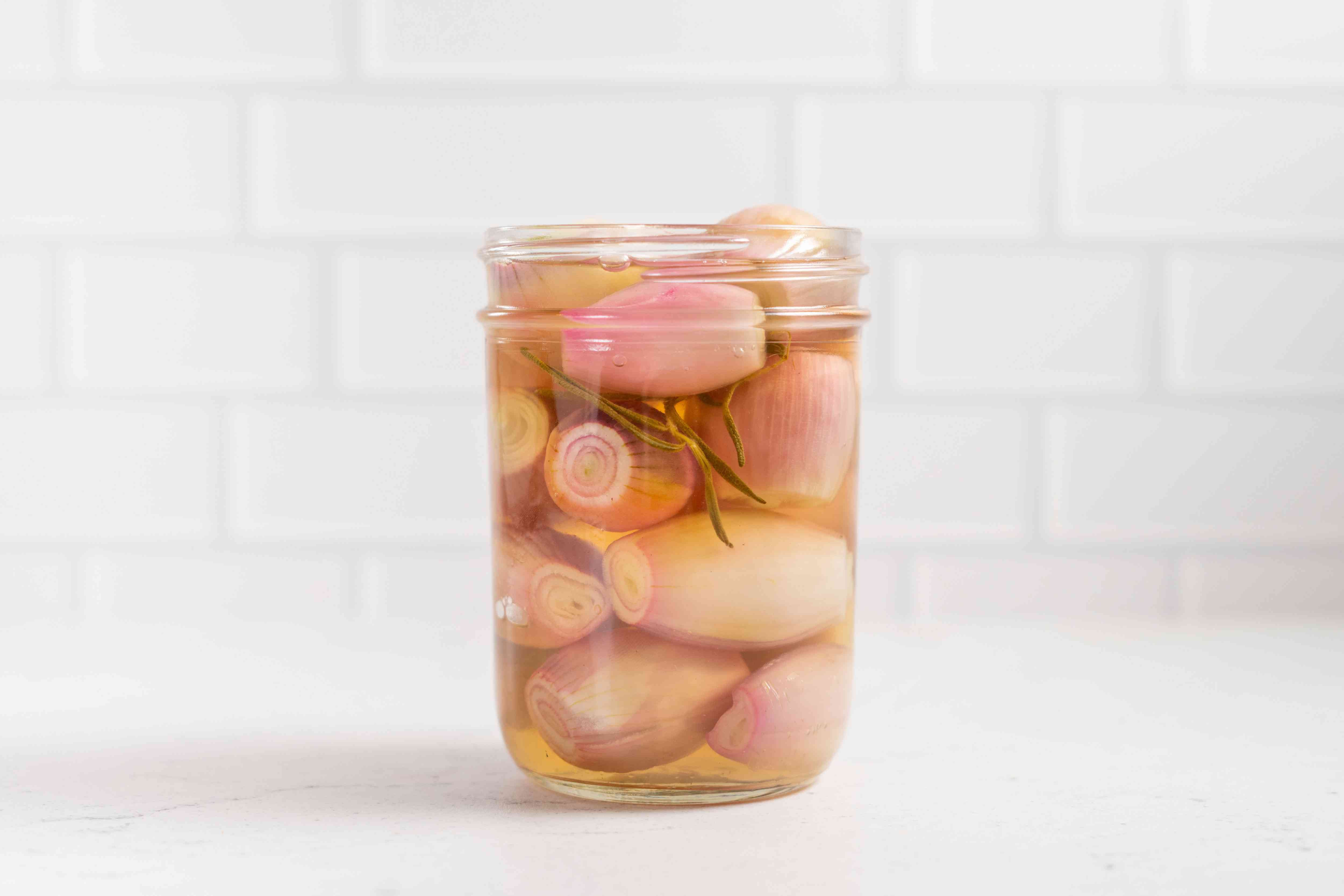 Pickled Shallots in a jar