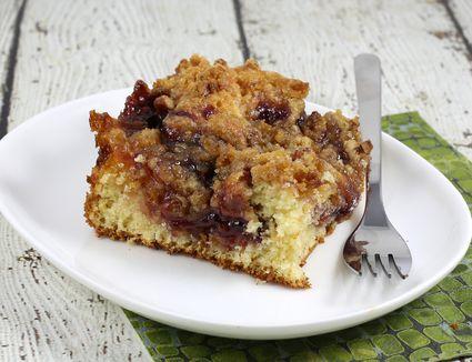 coffee cake with jam swirl
