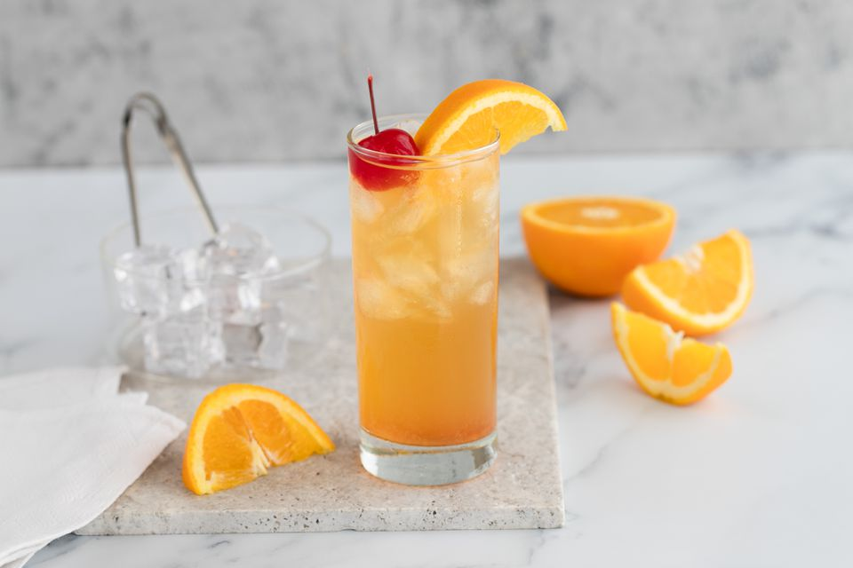 Black eyed susan cocktail