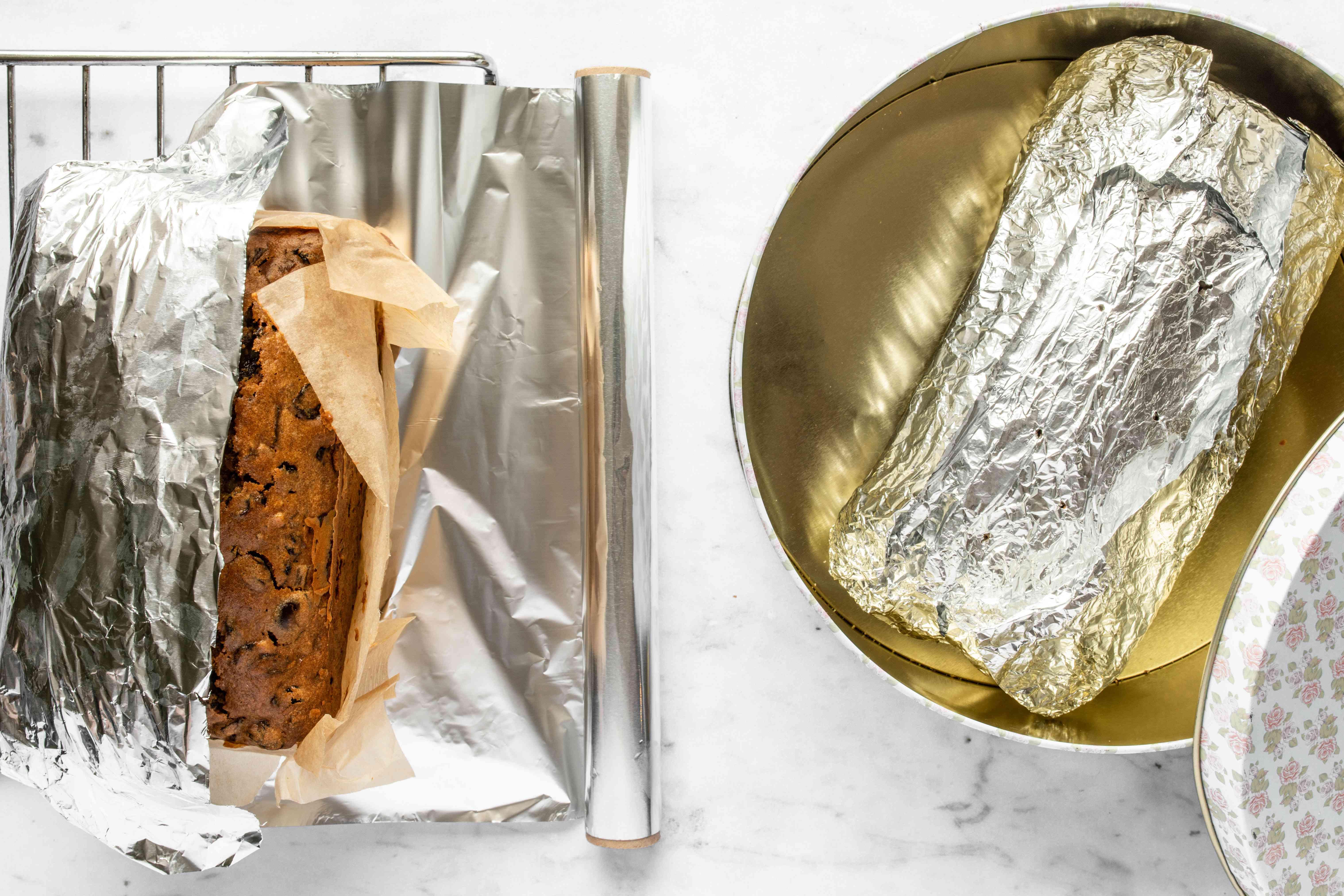 Wrap the cakes