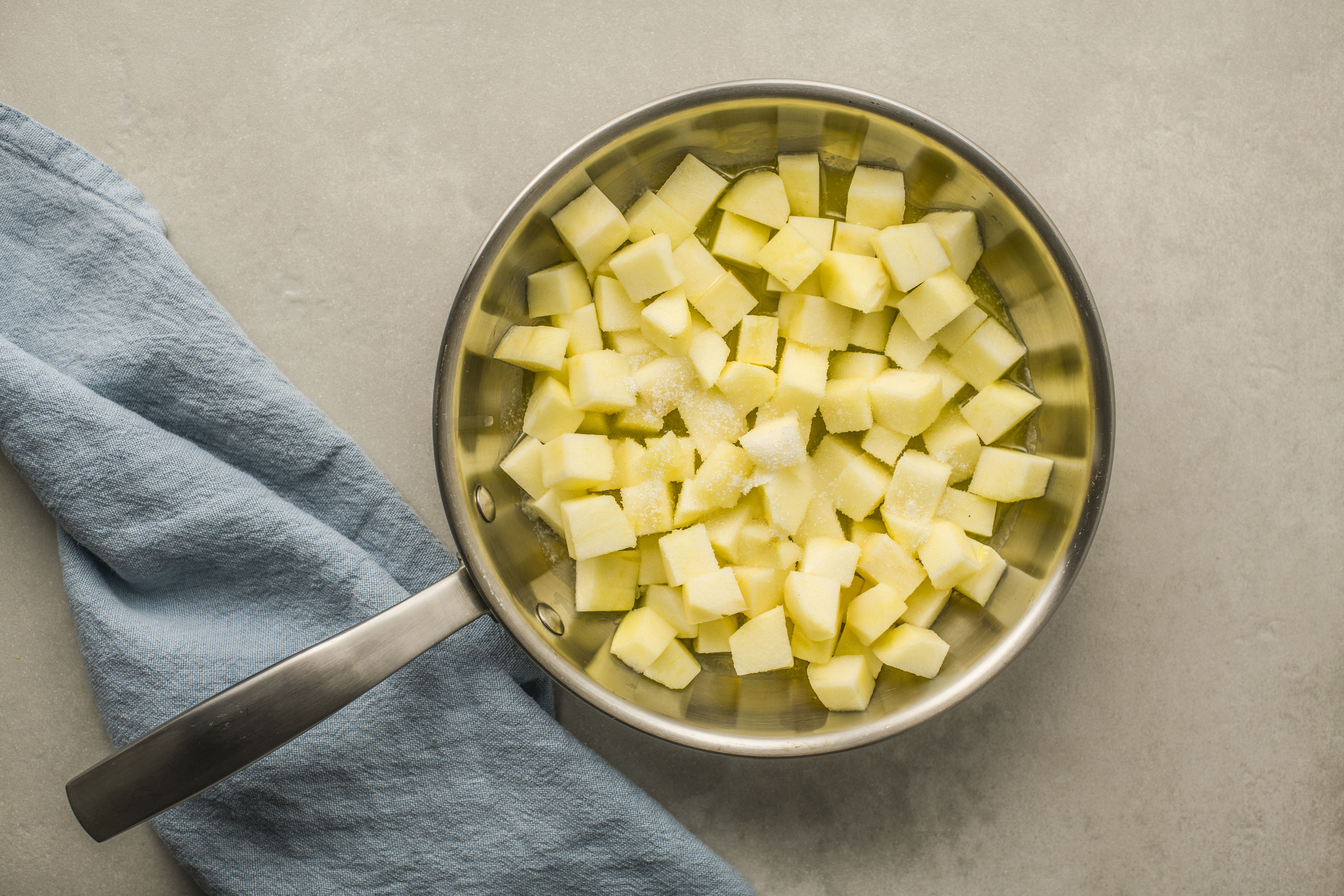 Add apples to pan