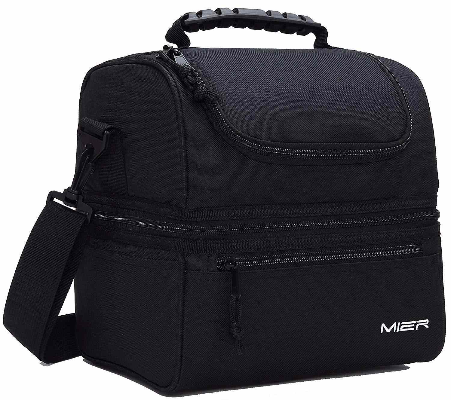 MIER Adult Lunch Box Insulated Lunch Bag Large Cooler Tote Bag