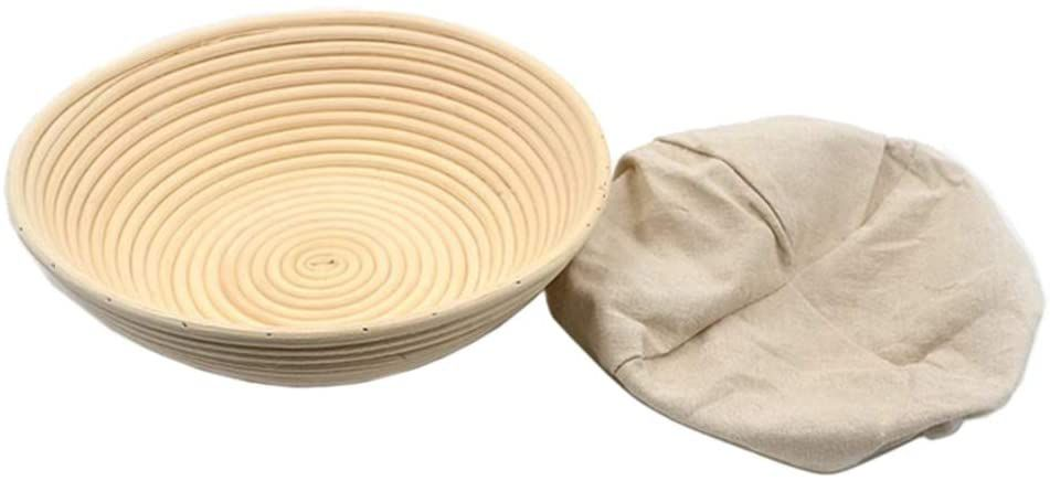 XDLEX Bread Proofing Basket 12-inch Round with Liner