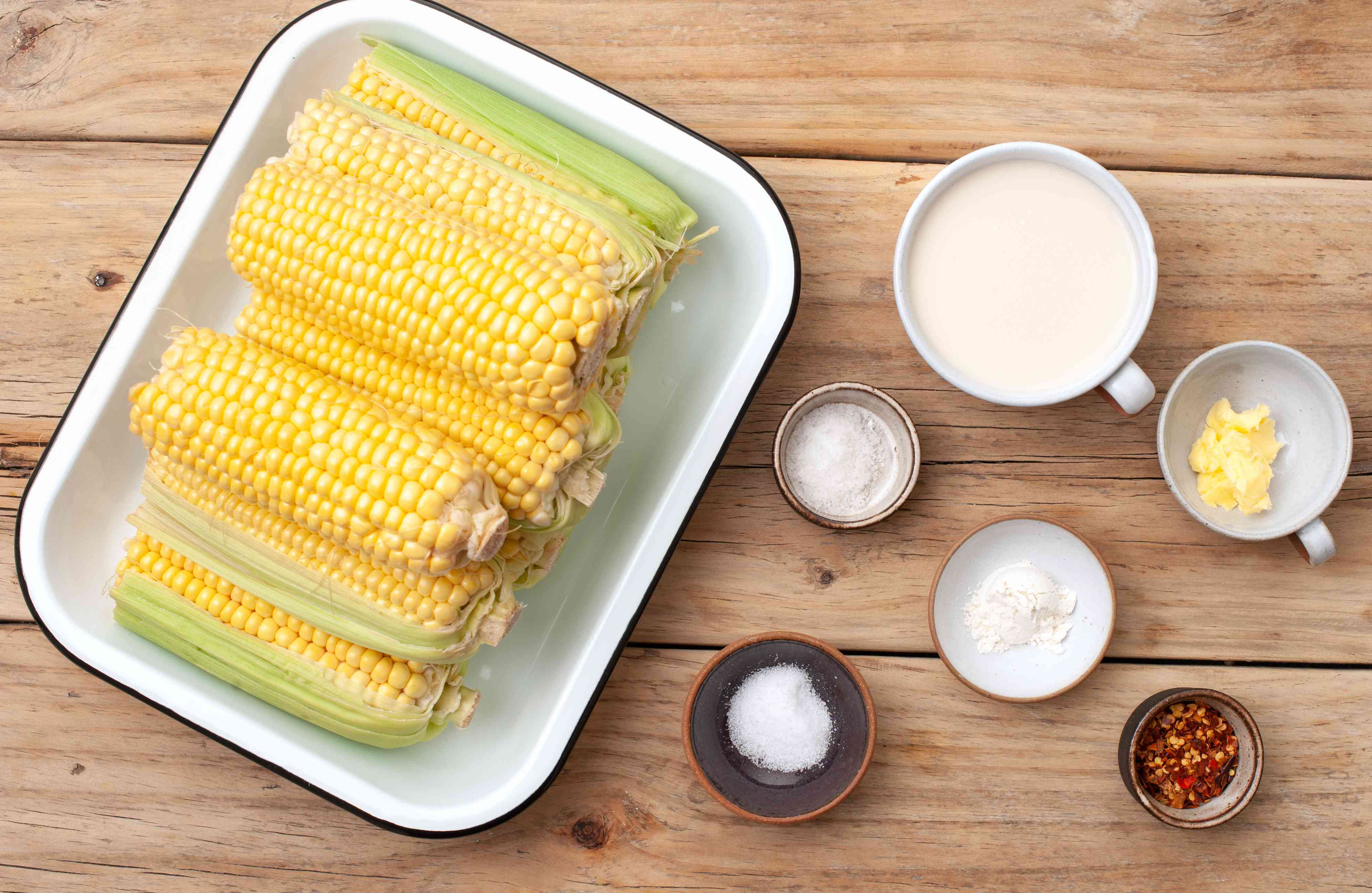 Ingredients for vegan creamed corn