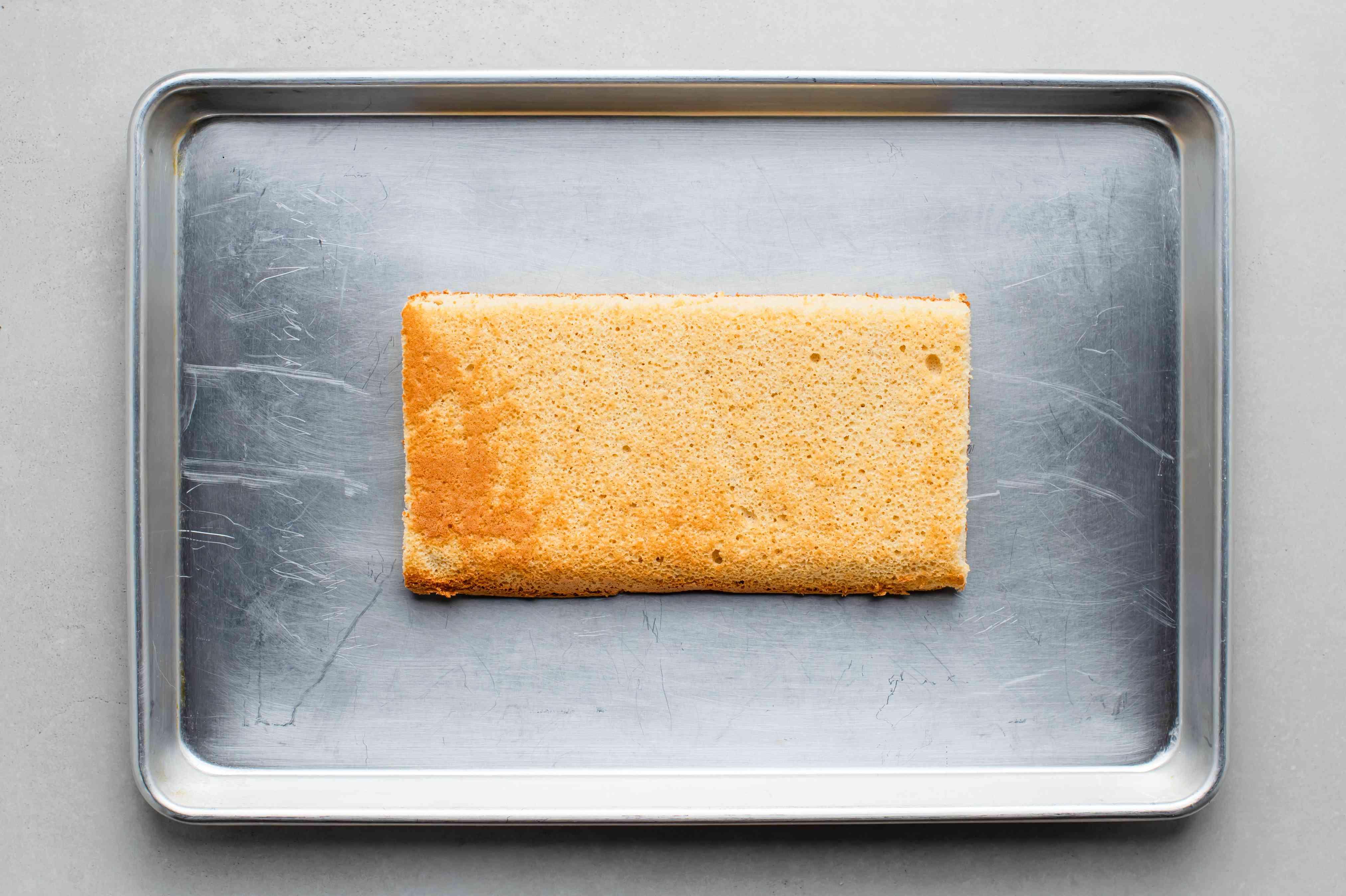 cake on a baking sheet