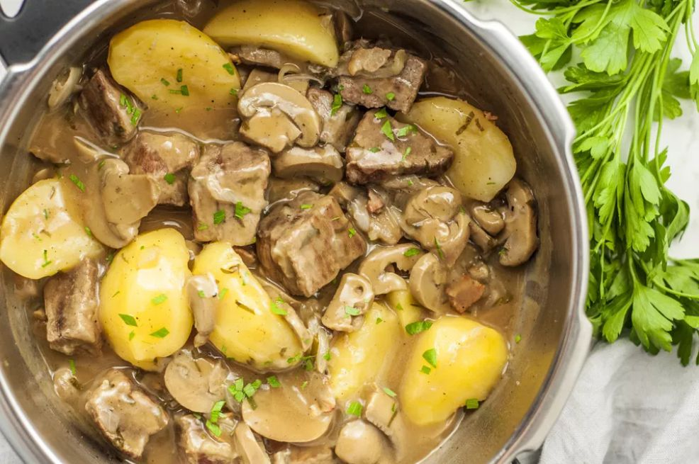 Pressure Cooker Round Steak and Vegetables