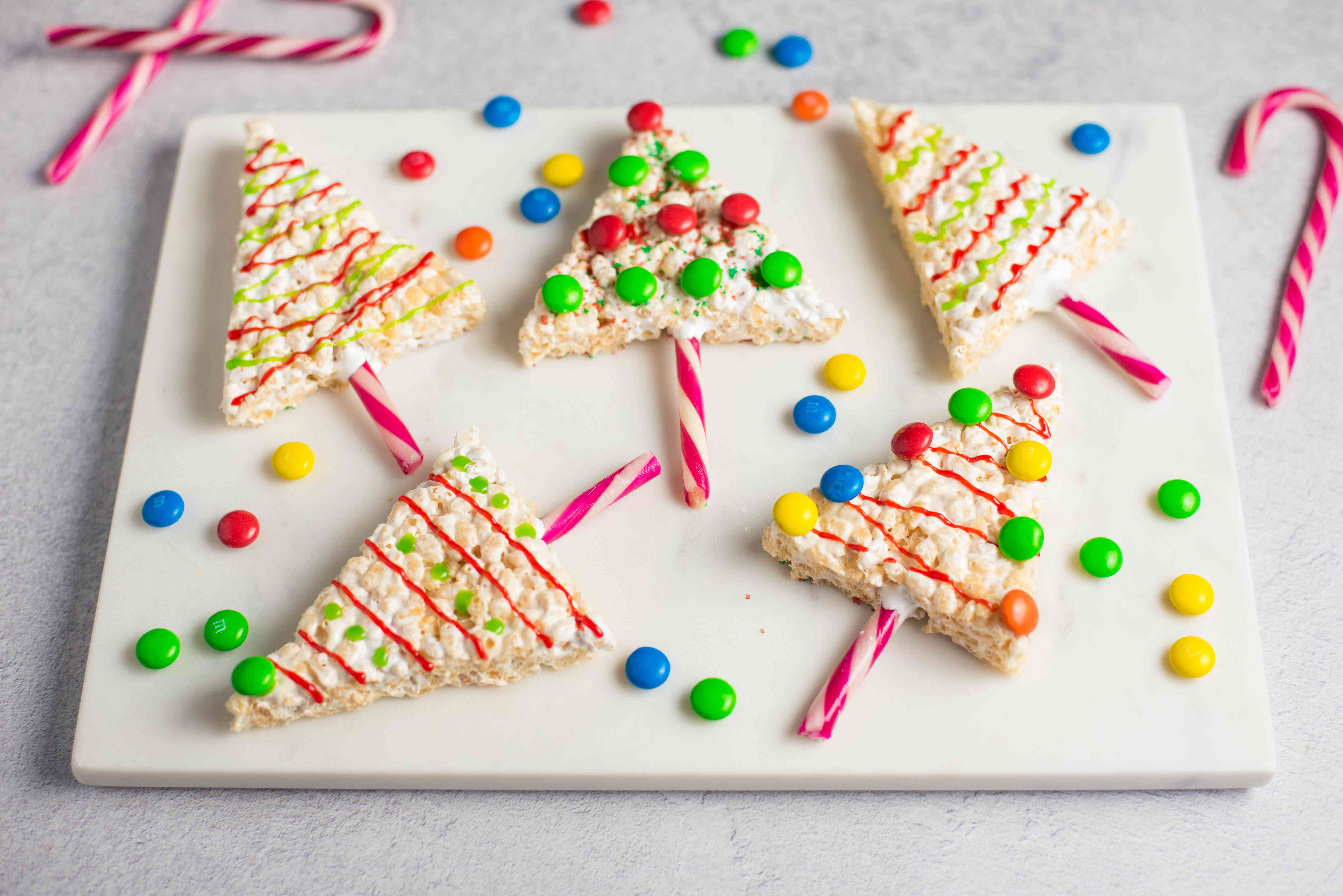 Christmas rice crispy treats recipe