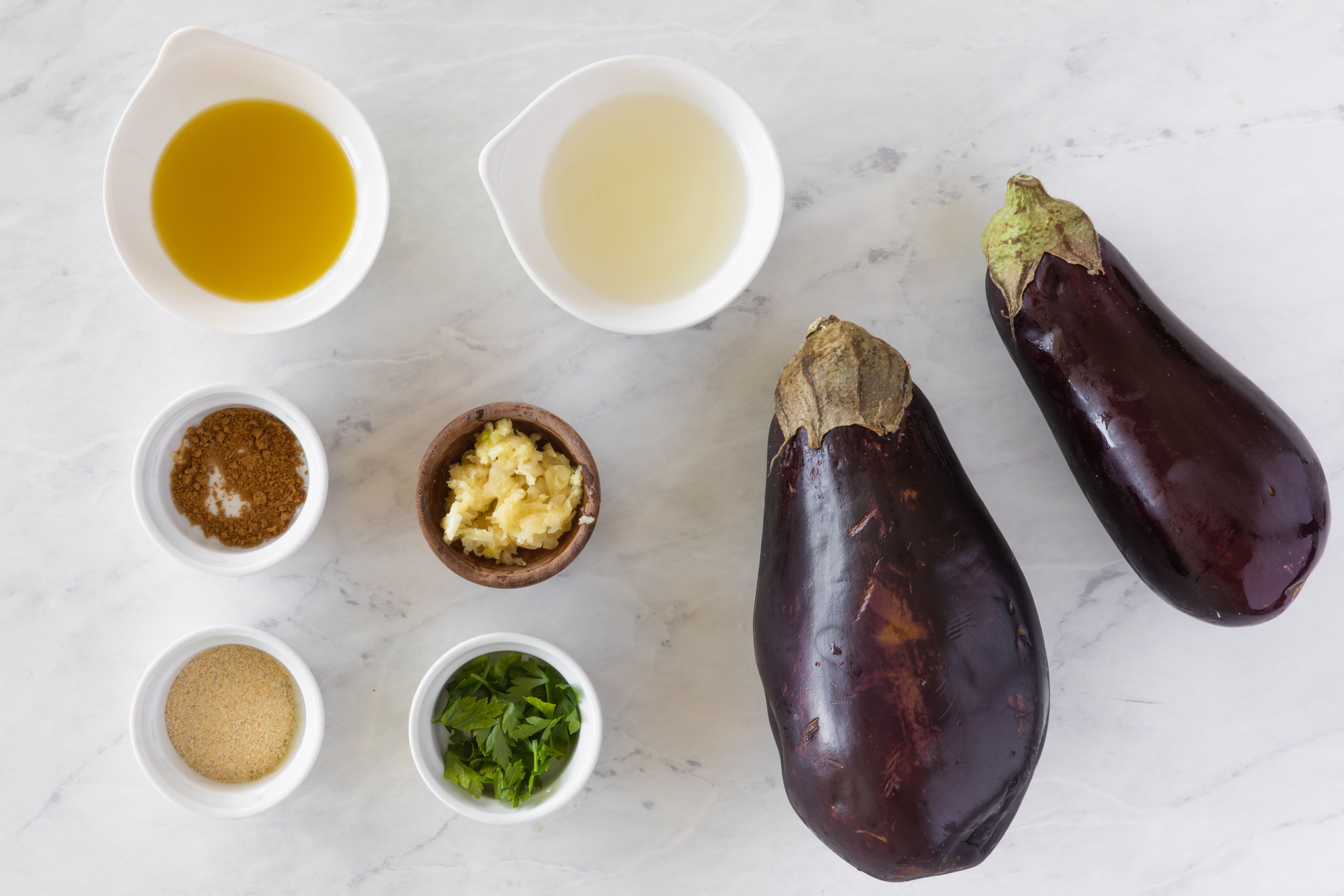 Ingredients for baba ghanoush