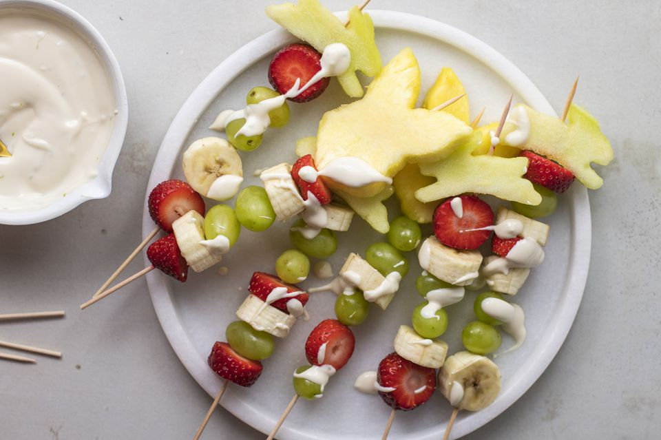 Colorful fruit kebobs recipe