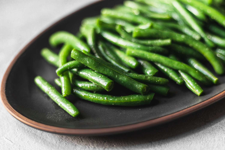 Serve and enjoy green beans