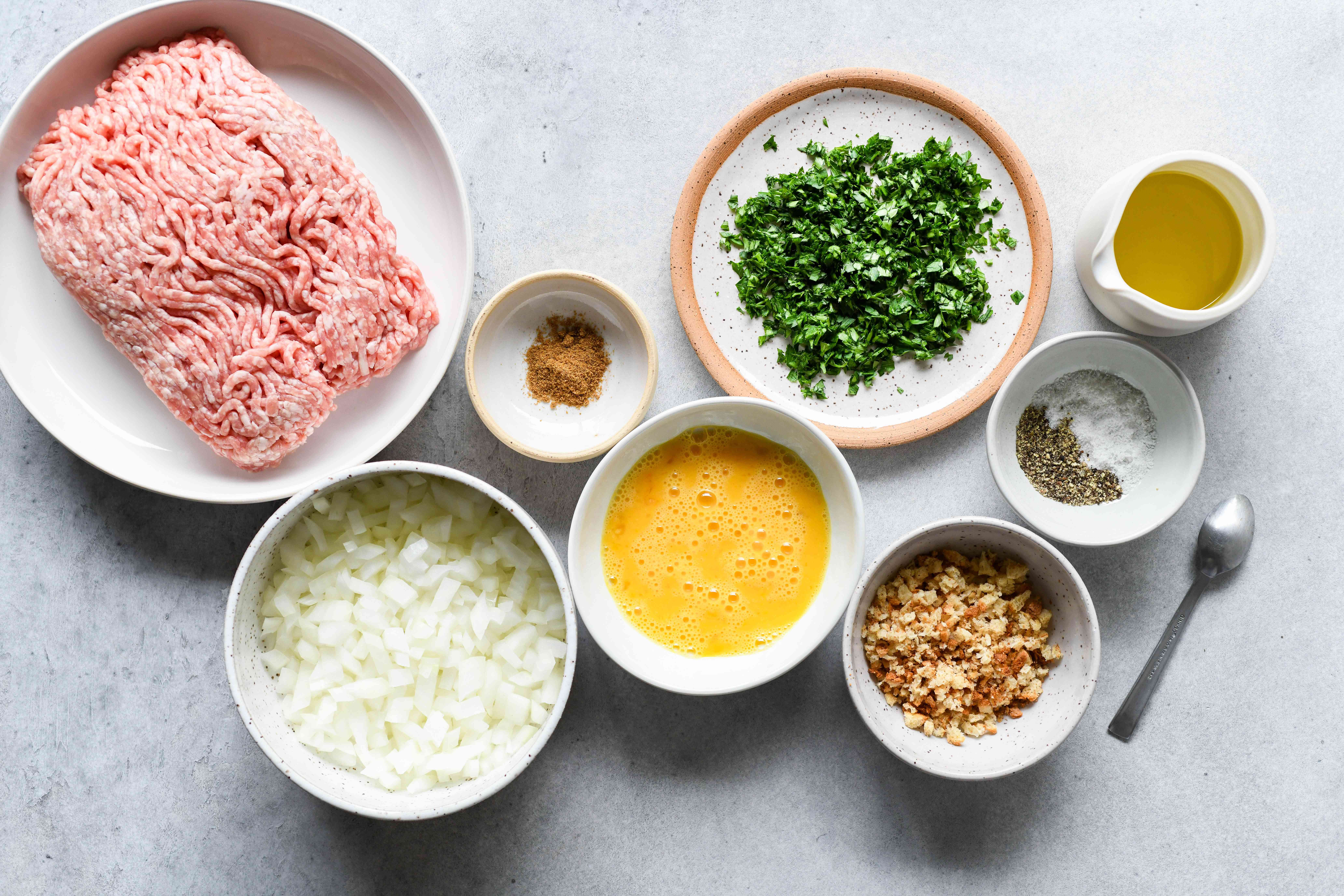 Pork and Onion Meatballs ingredients