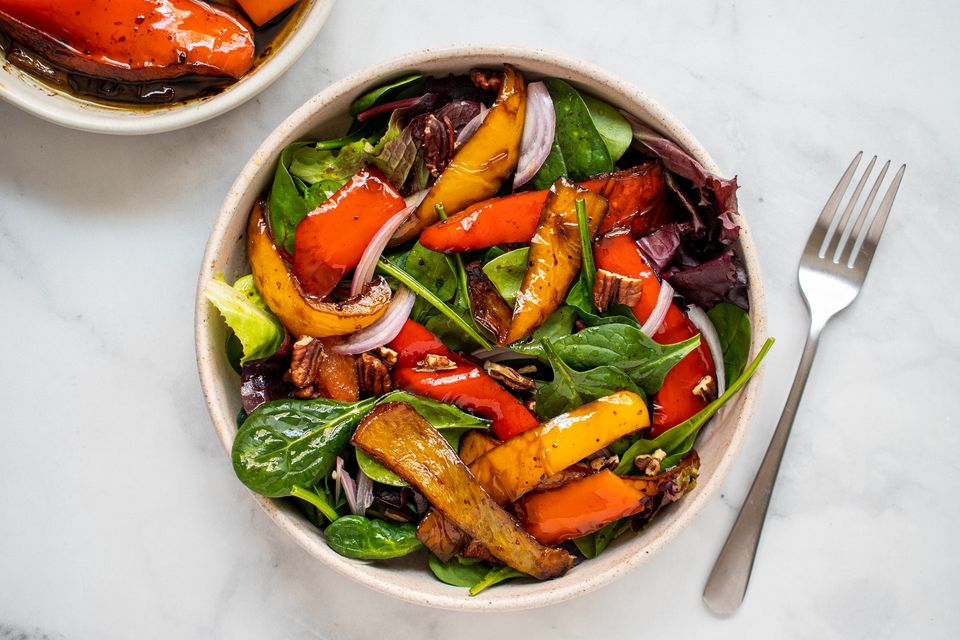 Balsamic Peppers Side Dish