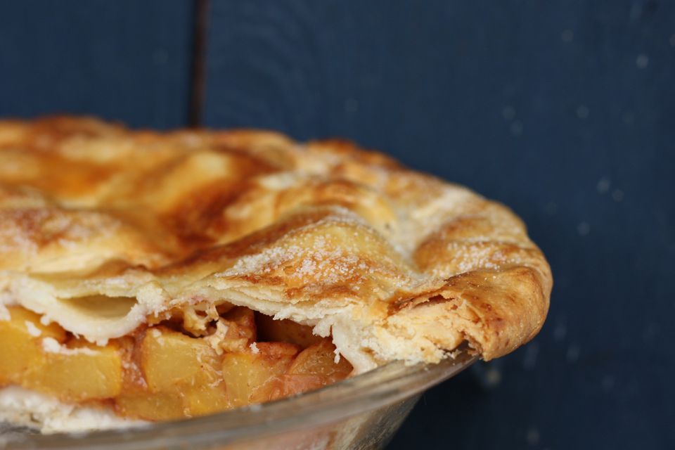 A spiced peach pie