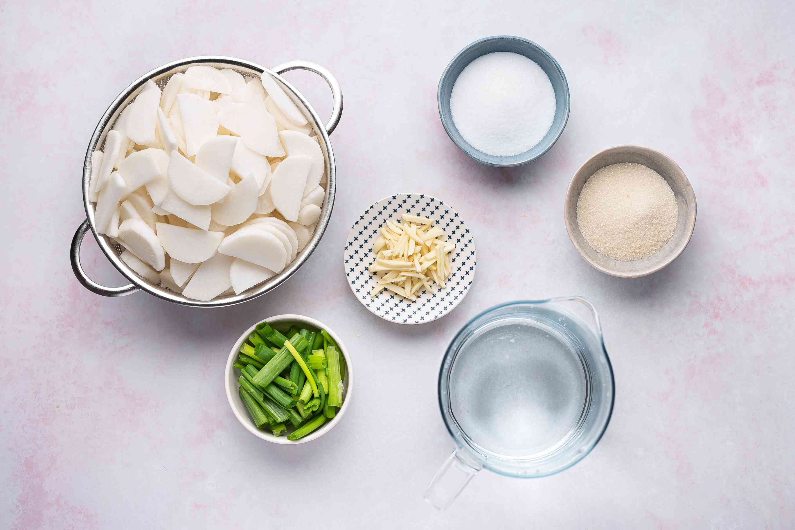 Korean White Radish Kimchi (Dongchimi) ingredients