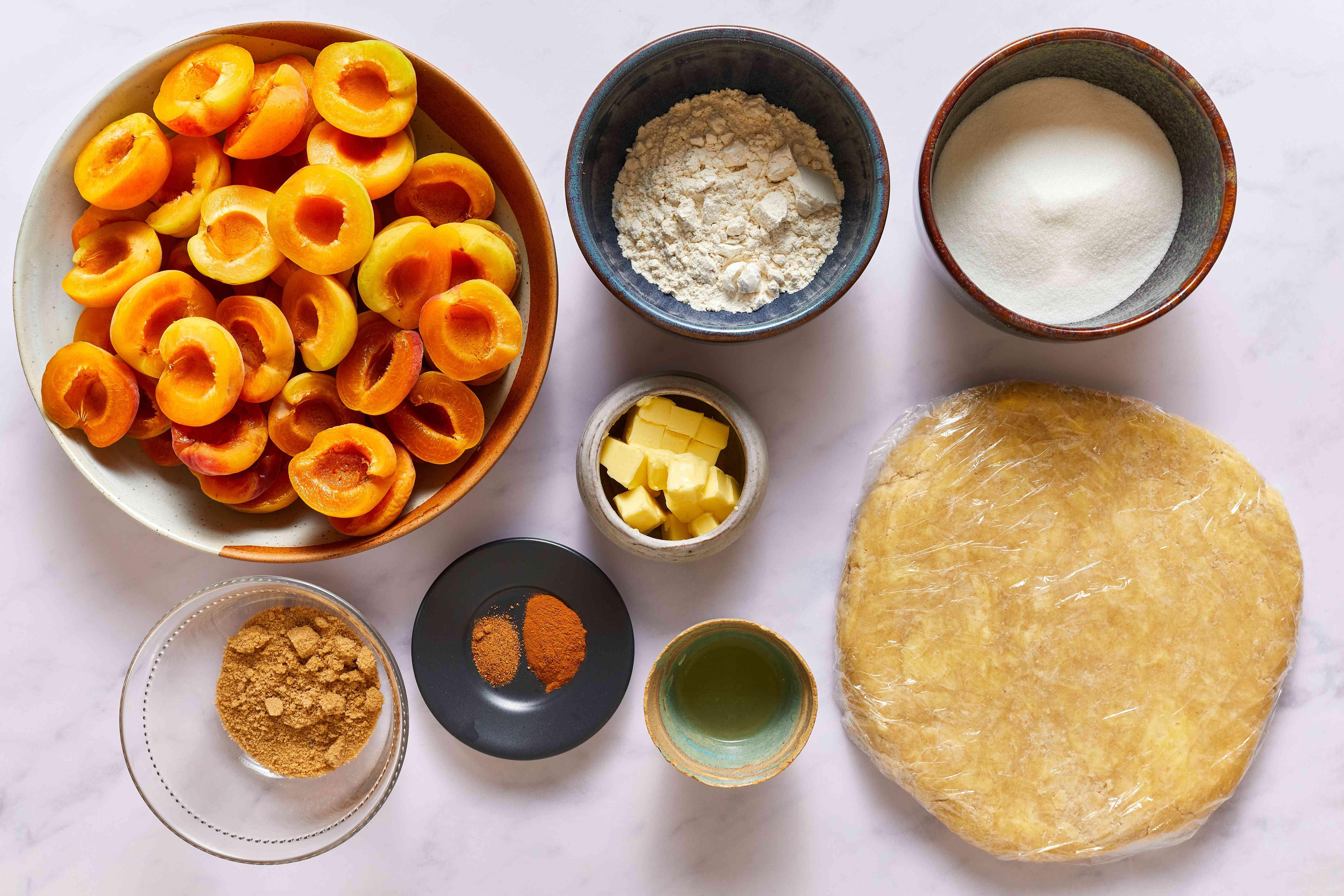 Fresh Apricot Pie ingredients