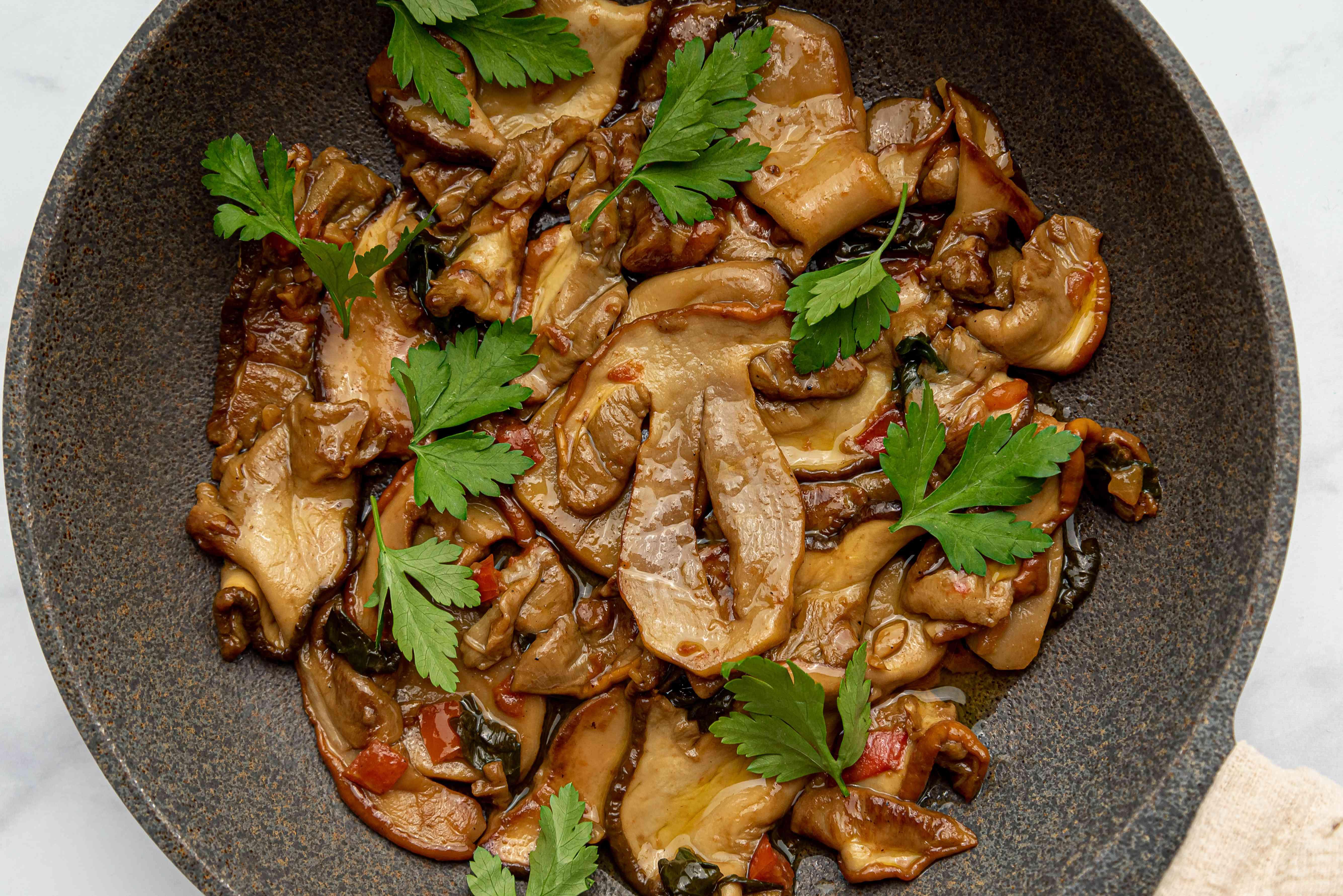 Porcini Mushrooms in a pan