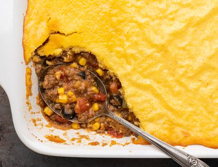Tamale Pie With Cheese Cornmeal Topping