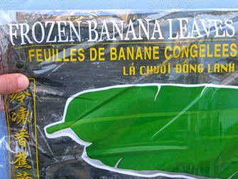 Banana Leaf Boats step 1
