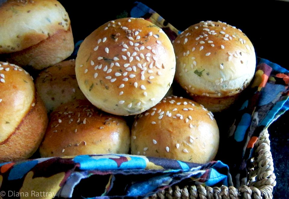Potato and Herb Dinner Rolls