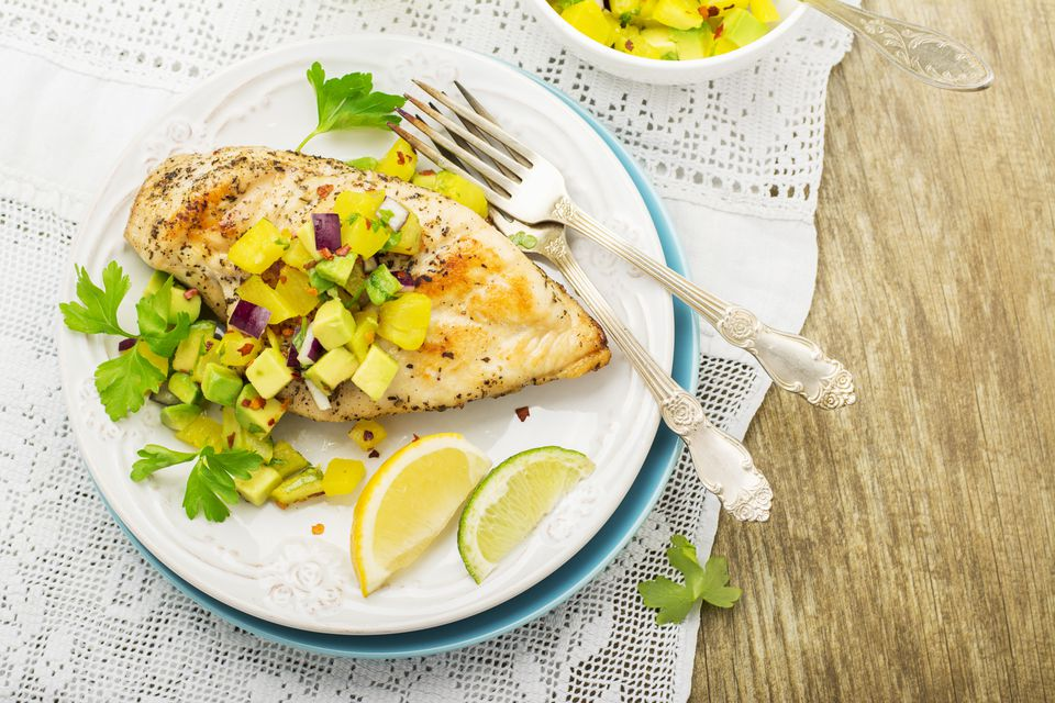 Chicken grilled and pineapple