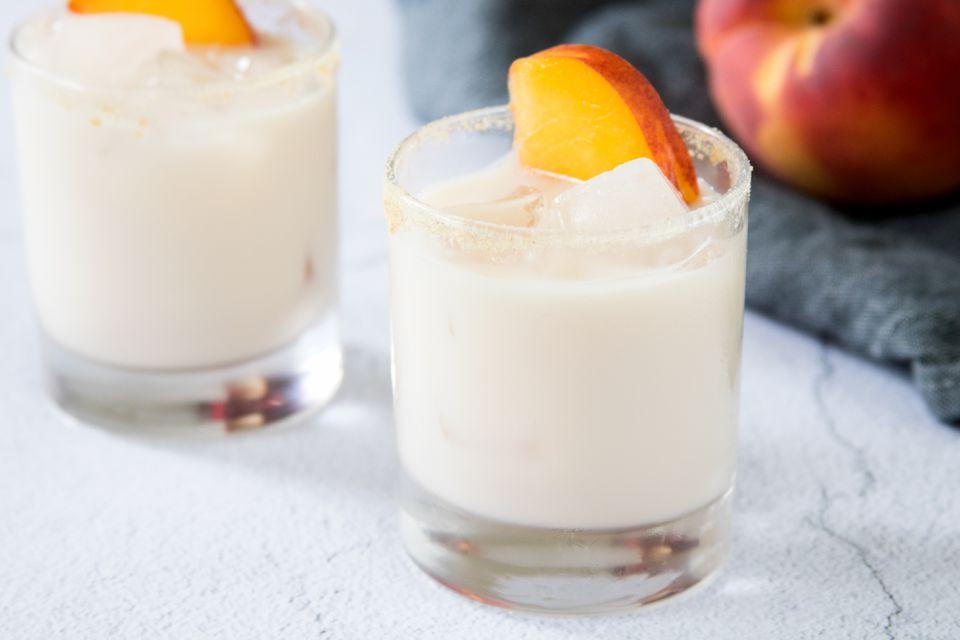 Peach Cobbler Cocktail With Peach Vodka