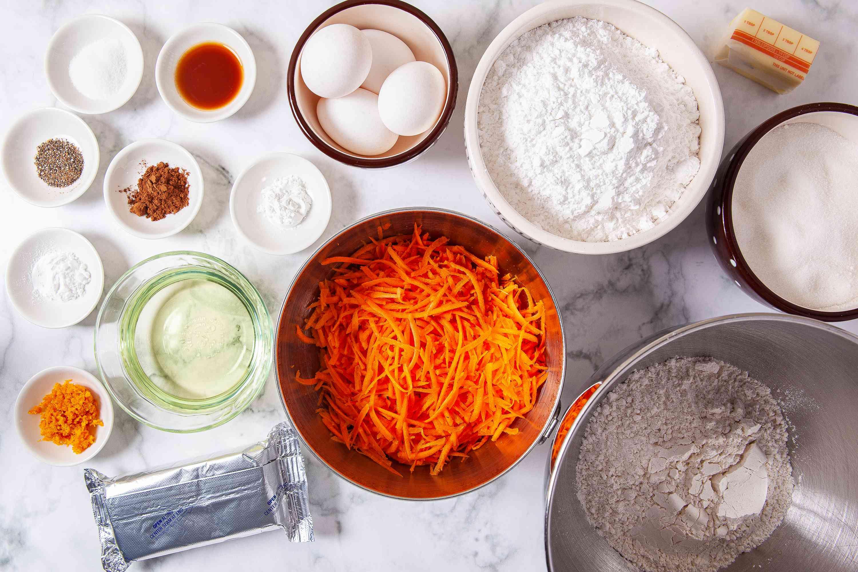Carrot Cake Cupcakes ingredients