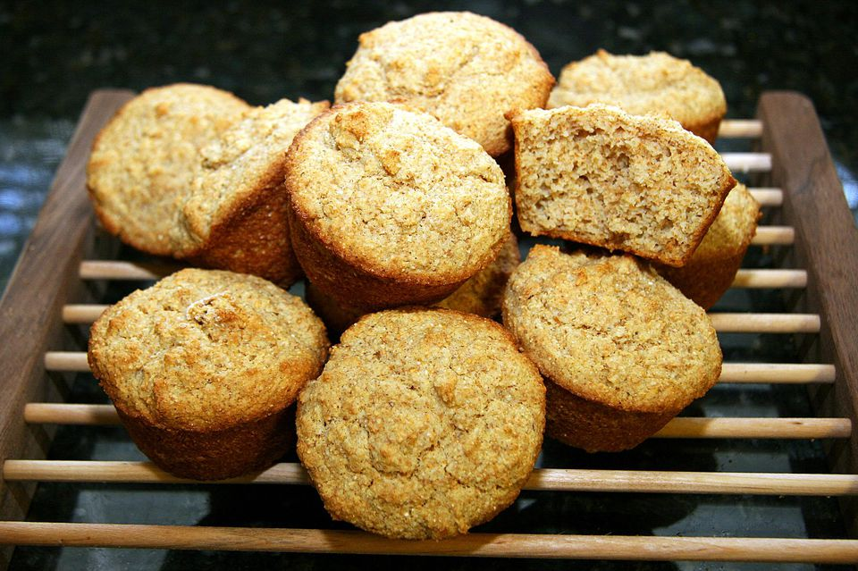 Whole Wheat and Cornmeal Muffins