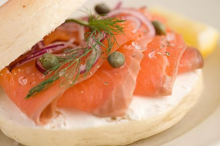 Smoked Salmon Cream Cheese And Capers Bagel Recipe