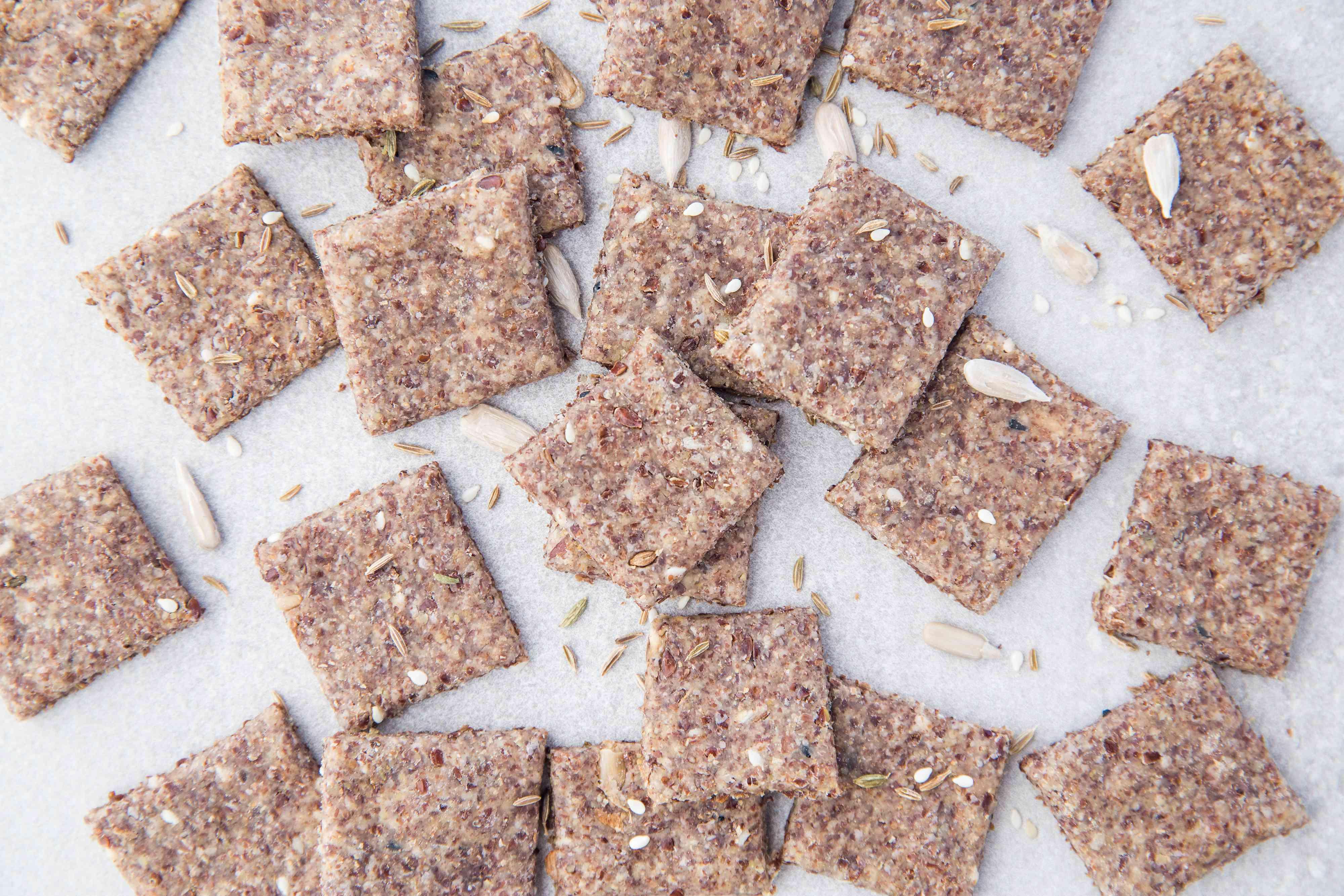 Flaxseed Sourdough Crackers