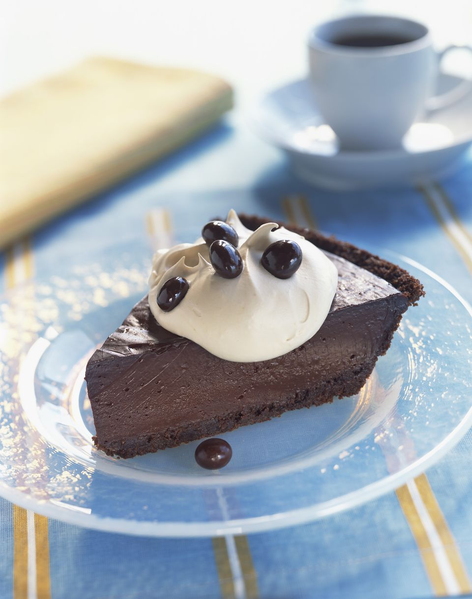 Chocolate pie with chocolate crumb crust