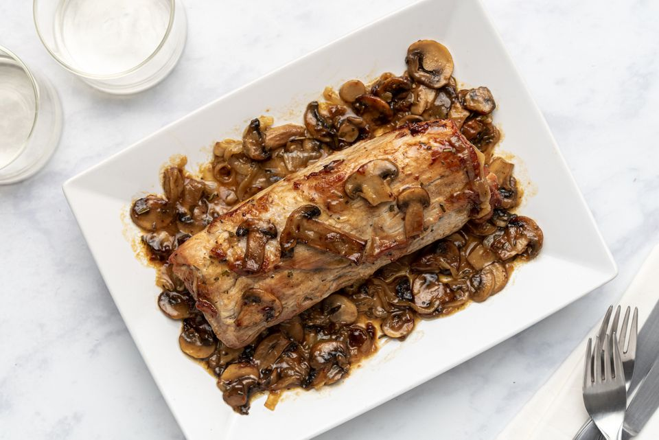 Veal Roast With Mushrooms