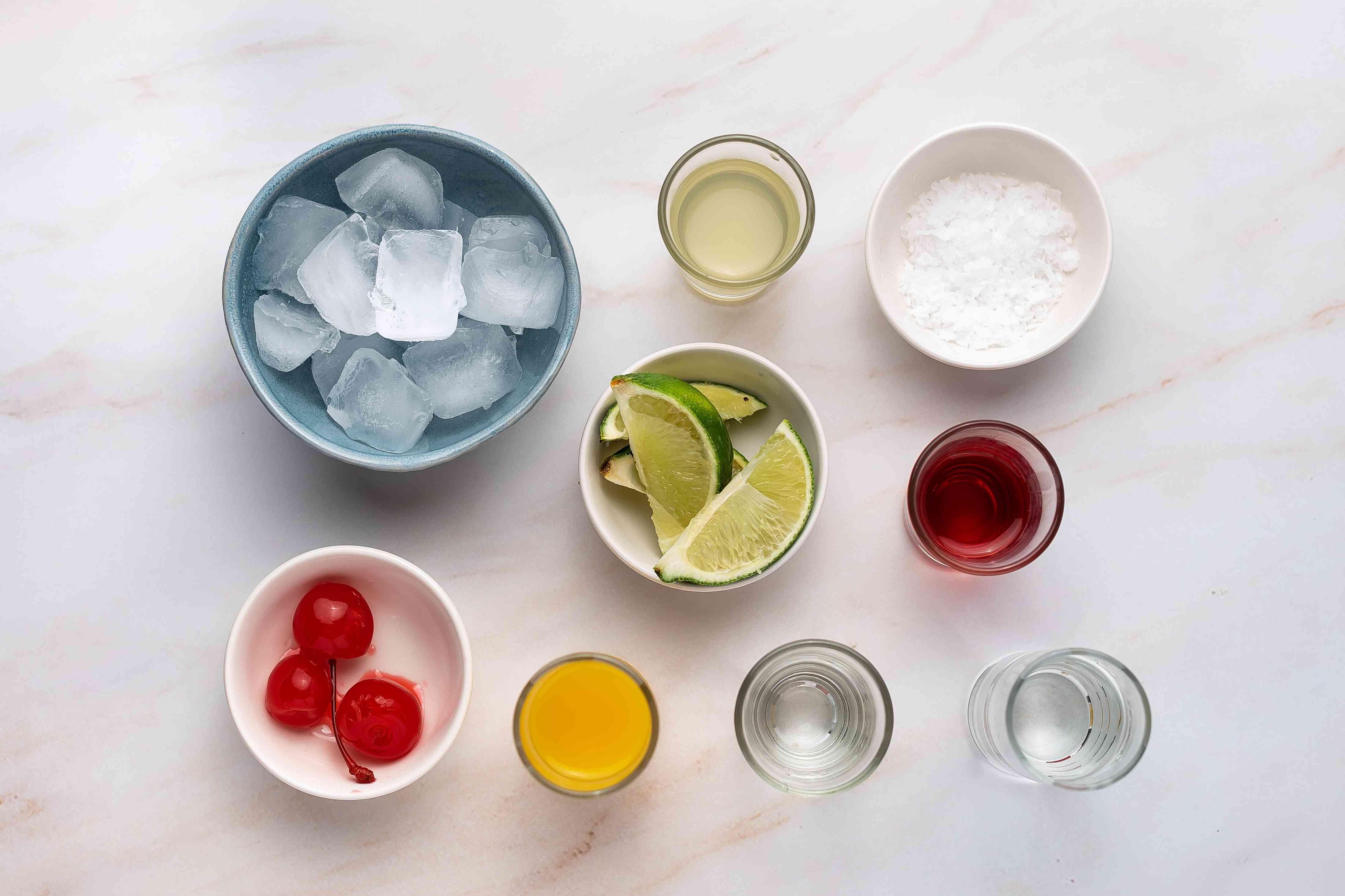 Frozen Tequila Sunrise Margarita ingredients