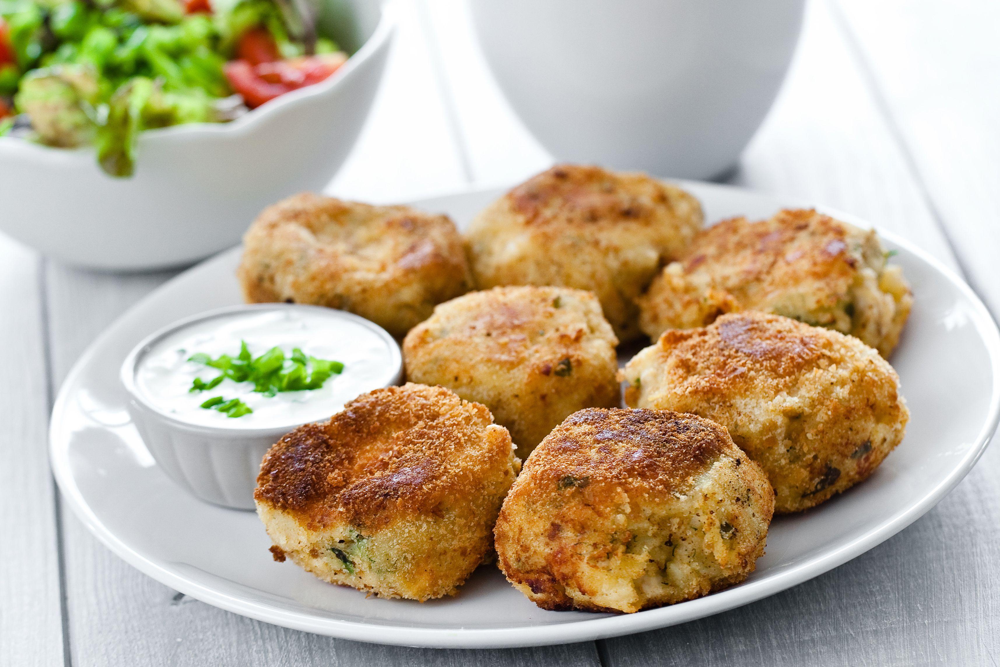 Mashed Potato and Ham Patties