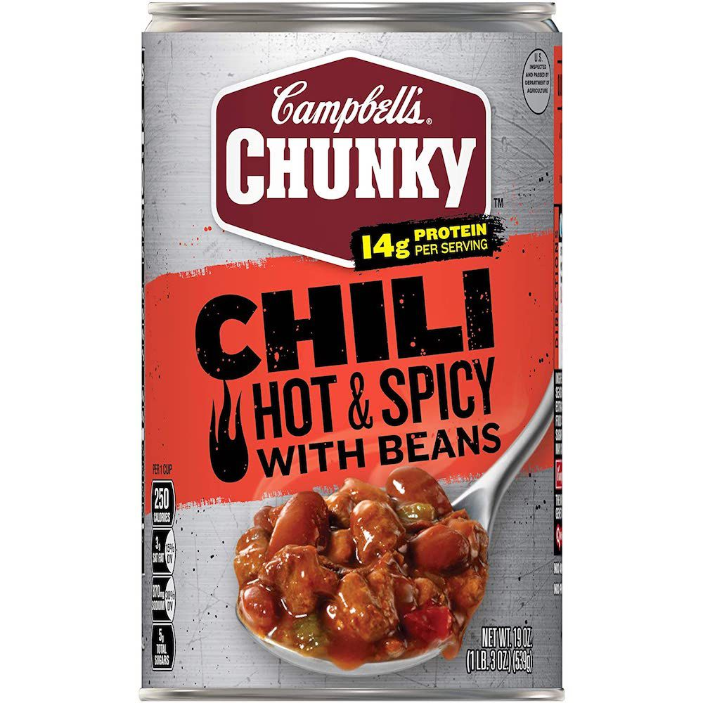 Campbell's Chunky Hot & Spicy Beef with Beans Firehouse Chili