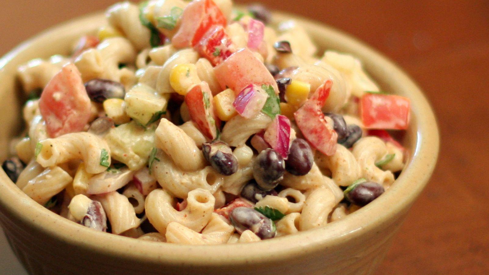 Tex Mex Macaroni And Black Bean Salad Recipe