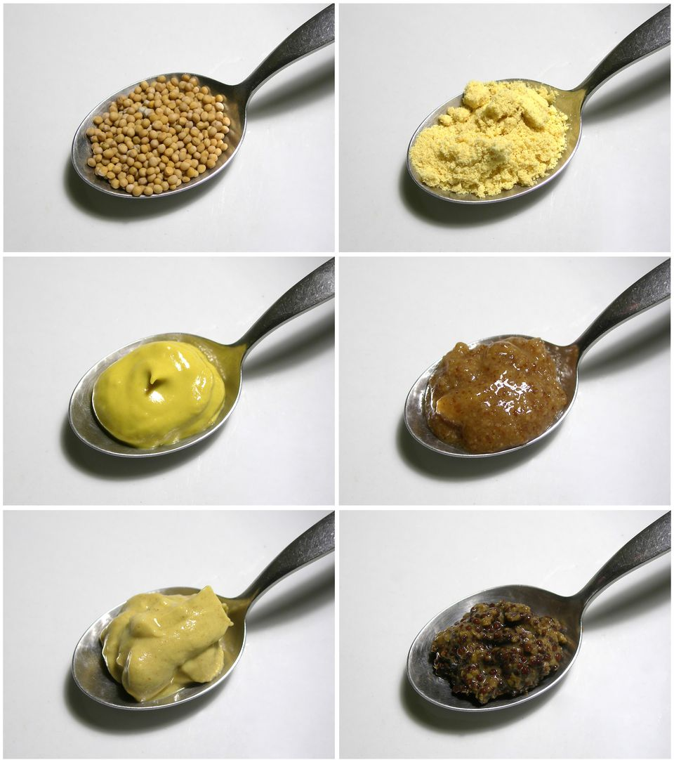 Mustard varieties on spoons